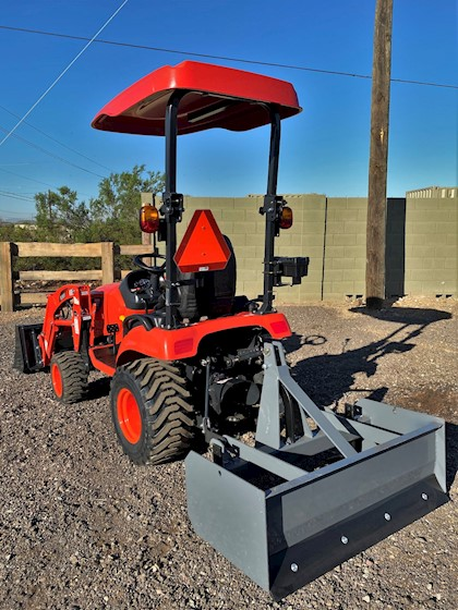 2020 KIOTI Upgraded CS2220H WorkPro Hystat Tractor Loader with Box Blade - KIOTI Tractors