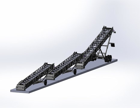 JP 36X60 SLIDE-OFF CONVEYORS - JP Aggregate Equipment