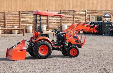 2018 KIOTI TRACTORS CK2510 HST TRACTOR LOADER AND BOX BLADE - LOADED!