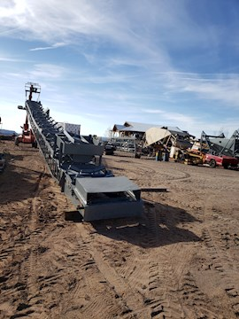 1981 REXNORD AGGREGATE EQUIPMENT 150 36X80 ELECTRICALLY POWERED CONVEYOR (2487)